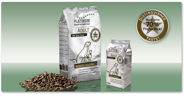 PLATINUM Adult Iberico+Greens – an alternative to standard dry dog food